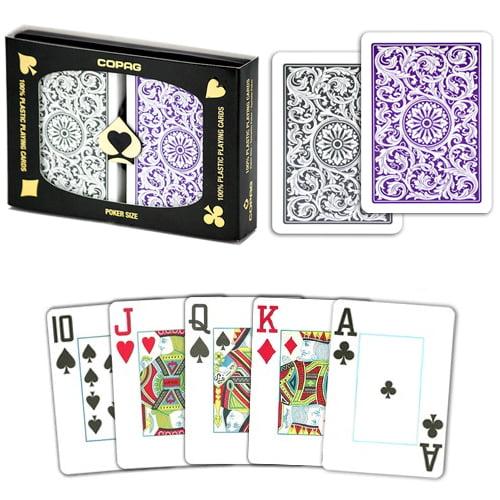 Copag 1546 Purple Gray Poker Size Jumbo Index