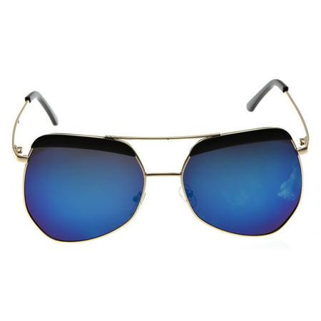 KroO Mens / Womens / Unisex - Aviator Sunglasses w/ Eyebrows on Metal Frame