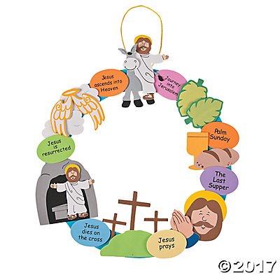 Religious Easter Wreath Craft Kit Walmart Com