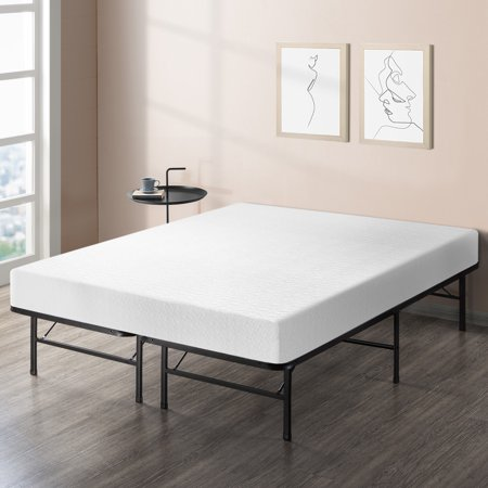 Best Price Mattress 8 Inch Memory Foam Mattress and Dual-Use Steel Bed Frame (Best Place For Used Furniture)