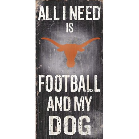 C0640 University of Texas Football and My Dog Sign, Officially licensed NCAA product and manufactured by Adventure Furniture Inc. By Fan
