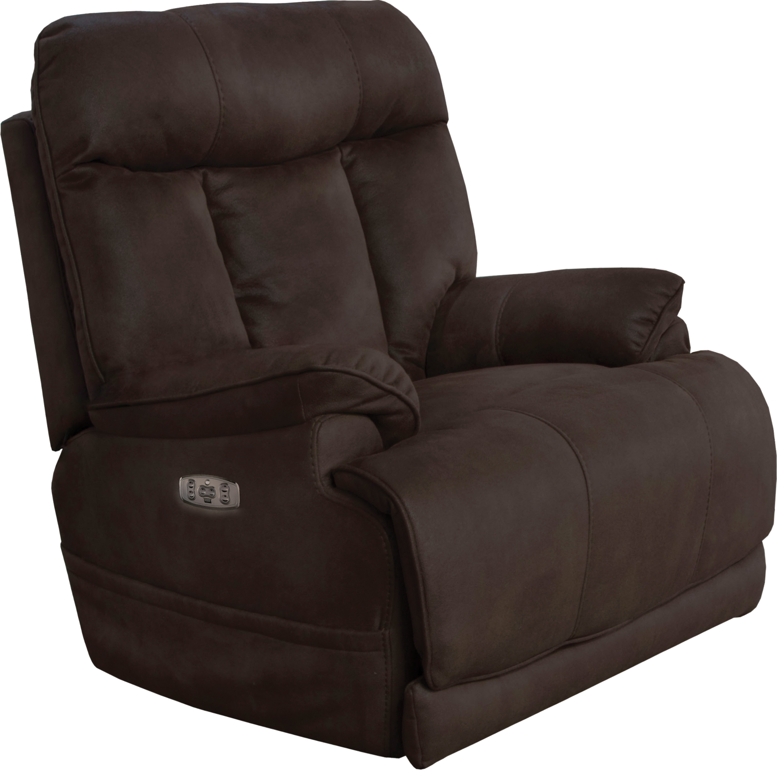 Catnapper Amos Power Lay Flat Recliner w/Extended Ottoman in Dark Chocolate