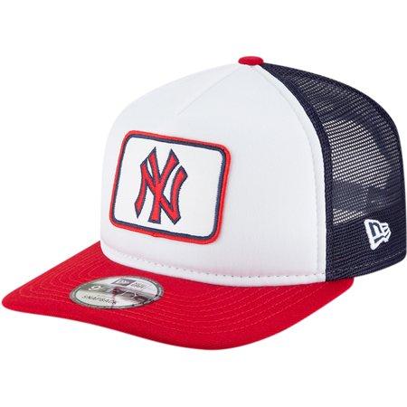 f27dfb1e8c9da New York Yankees New Era Team Pride Trucker 9FIFTY Adjustable Hat -  White Navy - OSFA - Walmart.com