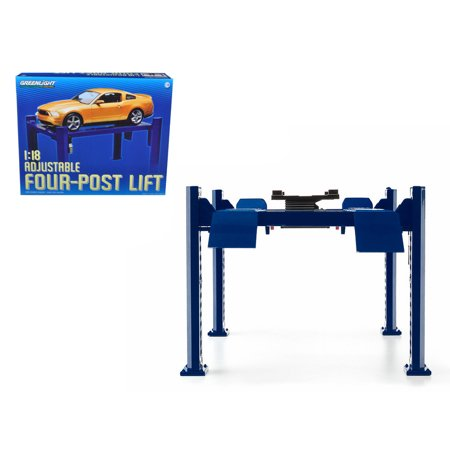 Four Post Lift Blue for 1/18 Scale Diecast Model Cars by (Best 4 Post Car Lift Reviews)