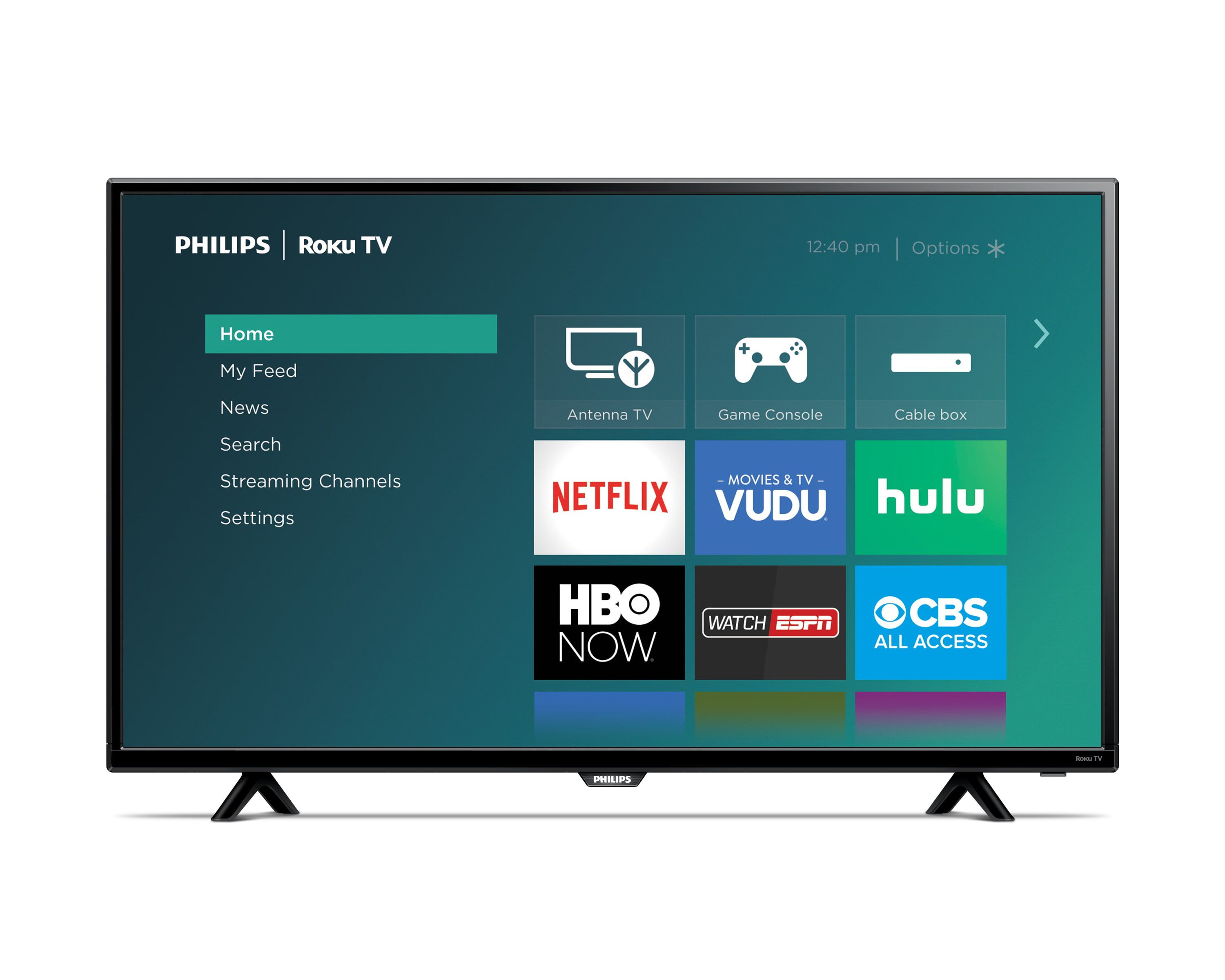 Philips 40� Class FHD (1080P) Roku Smart LED TV (40PFL4662 F7) by Philips