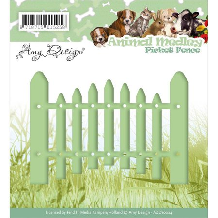Find It Trading Amy Design Animal Medley Die, Picket Fence