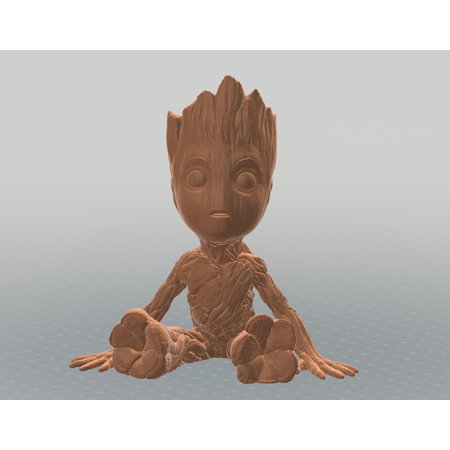 Baby Groot Figure Small Wooden Flower Pot Toy Decor 6 Walmartcom