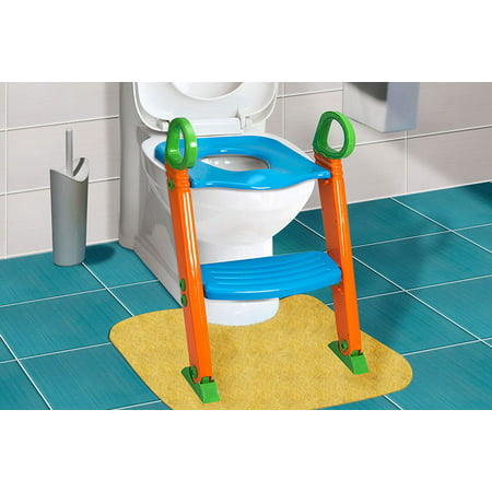 GPCT Portable 3-In-1 Toddler Potty Training Seat with Step Stool (Step Potty Training System)