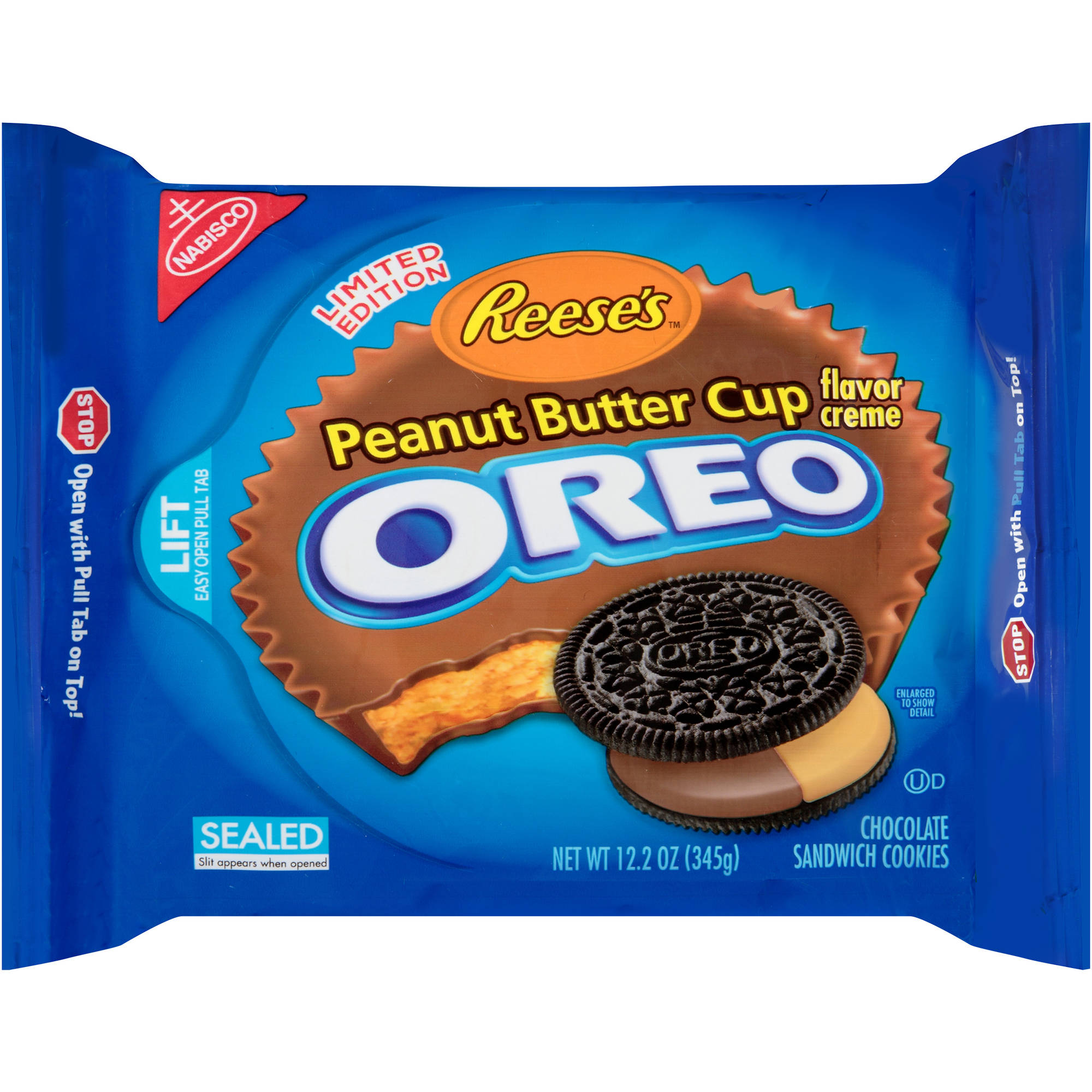 Nabisco Reese's Peanut Butter Cup Creme Oreo Chocolate Sandwich Cookies, 12.2 oz