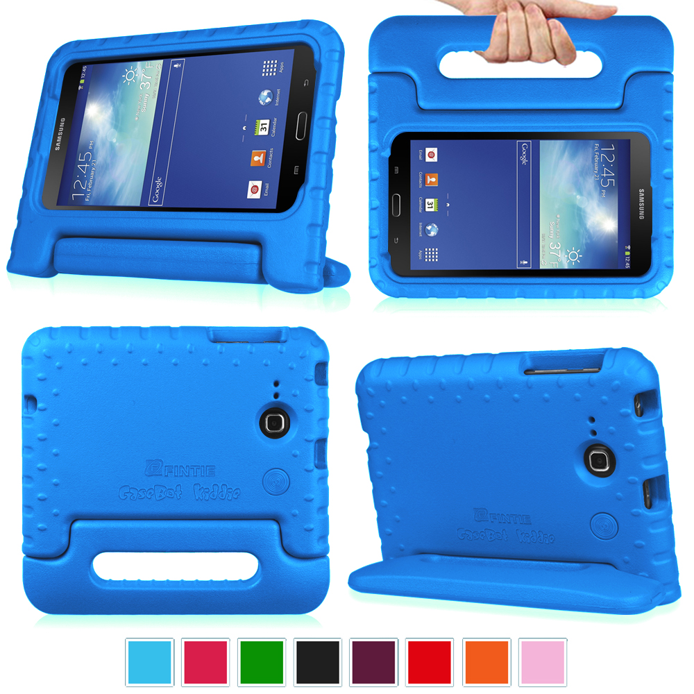 Fintie Samsung Galaxy Tab E Lite 7.0 / Tab 3 Lite 7.0 Tablet Kiddie Case Lightweight Shock Proof Stand Cover, Blue