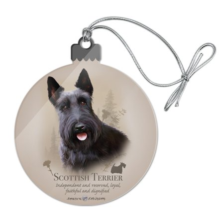Scottish Terrier Scottie Dog Breed Acrylic Christmas Tree Holiday Ornament