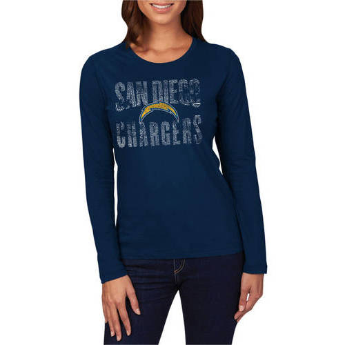 NFL San Diego Chargers Women's Long Sleeve Crew Neck Tee