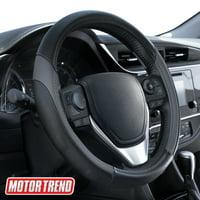 Blue SUV Universal 15 Inch Black Premium Suede Car Steering Wheel Covers for Sedan Truck Suede Steering Wheel Cover