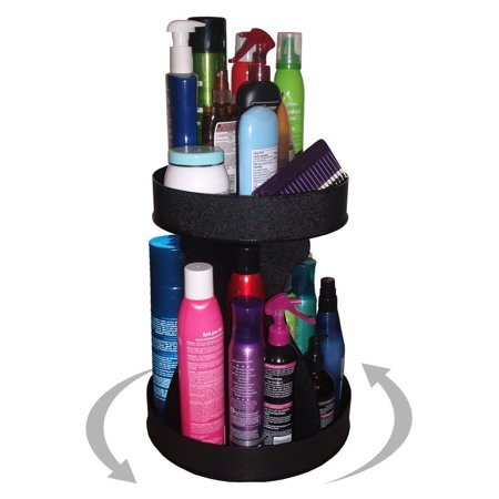 Cosmetic Spinner Organizer for Tall Bottles, Double Your Storage in Only 12