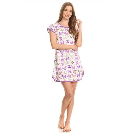 ba36ef032f Lati Fashion - 5008 Womens Nightgown Sleepwear Pajamas Woman Sleep Dress  Nightshirt 118 Purple L - Walmart.com