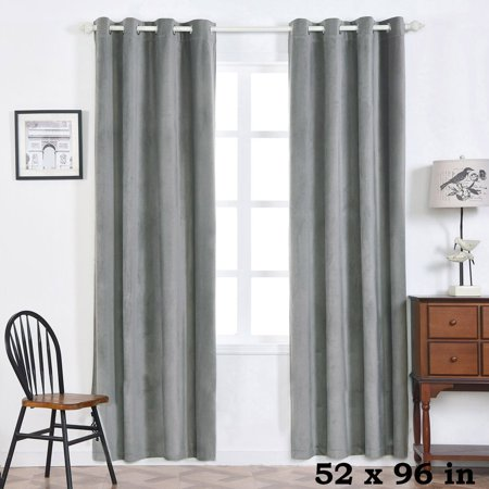 Teal And Lavender (BalsaCircle 52 x 96-Inch Premium Velvet Curtains Drapes Panels with Grommet Window Treatments - Home)