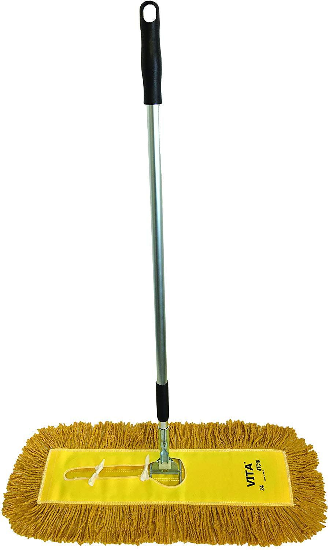 "1 36/"" Wire Dust 1 36/"" Yellow Industrial Closed-Loop Dust Mop Dust Mop Kit 36/"""