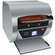 """Hatco TQ3-2000 Toast Qwik Stainless Steel Conveyor Toaster with 2"""" Opening and Digital Controls - 208V, 4020W"""