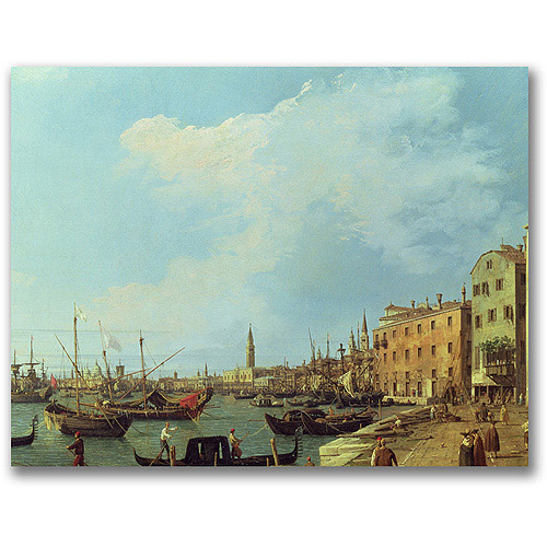 "Trademark Fine Art ""The Riva Degli Schiavoni"" Canvas Wall Art by Canatello"