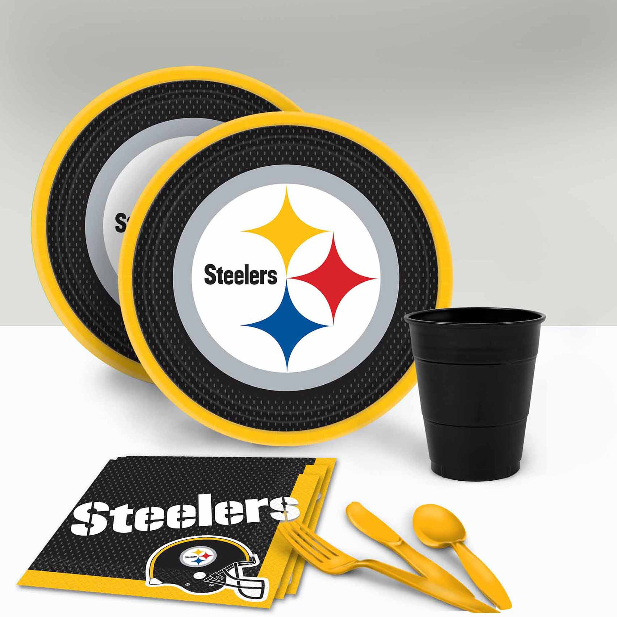 Pittsburgh Steelers Tableware Party Pack for 16