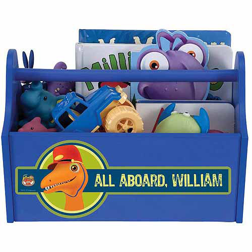 Personalized Dinosaur Train Conductor Toy Caddy