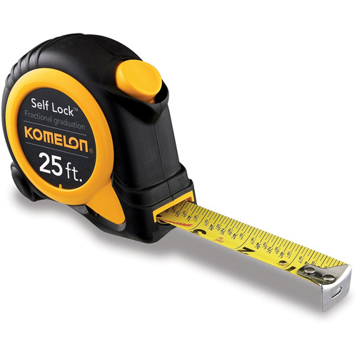 "Komelon USA Corporation SL2925 1"" X 25' Self Lock Speed Mark Tape Rule"