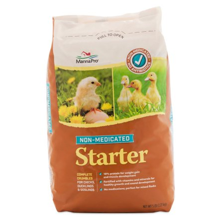 Manna Pro Non-Medicated Chick Starter Chicken Feed, 5 lbs.