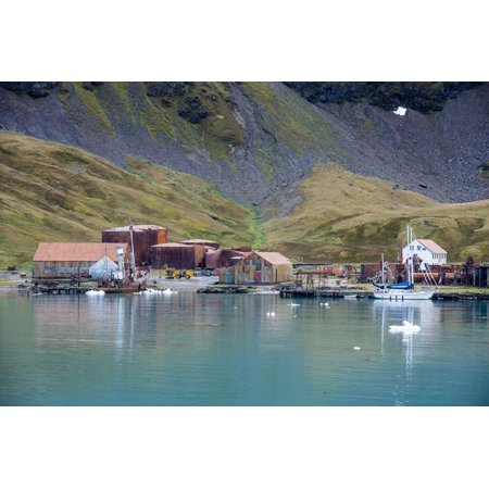 Whaling Station - Former whaling station, Grytviken, South Georgia, Antarctica, Polar Regions Print Wall Art By Michael Runkel
