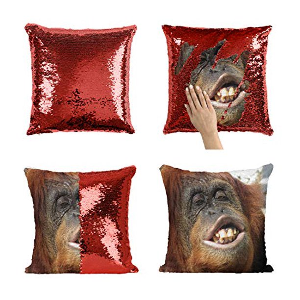Ugly Gorilla Shimpanzee P194 Sequin Pillow Funny Pillow Sequin Reversible Pillow Throw Pillow Cover Décor Gift For Him Her Birthday Christmas Halloween Present Pillow Cover Insert Walmart Com Walmart Com