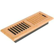 Louvered Light Oak Plastic Floor Register, 3 In. X 10 In.