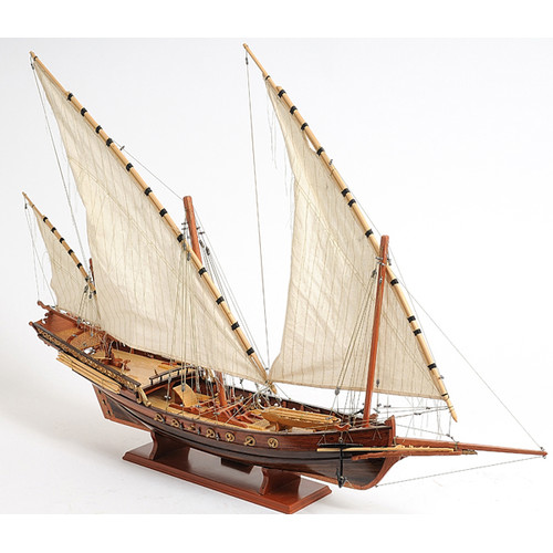 Old Modern Handicrafts Xebec Sailing Model Ship by Old Modern Handicrafts