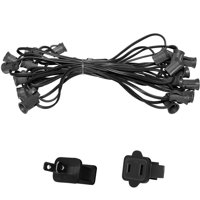 "Holiday Lighting Outlet C7 Christmas Light String, Patio Event Lighting, 25', Black Cord, 12"" Socket Spacing, E12"