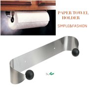 Paper Towel Holder Under Cabinet Wall Mount Stainless Steel Rack Kitchen 13 inch