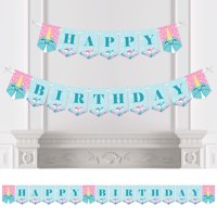 Narwhal Girl - Under The Sea Birthday Party Bunting Banner - Birthday Party Decorations - Happy Birthday