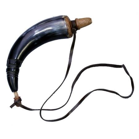 GUN POWDER HORN Musket, Horns, Powderhorn FUNCTIONAL - Malificent Horns