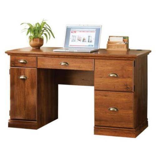Better Homes and Gardens Computer Desk, Brown Oak - Best Desks