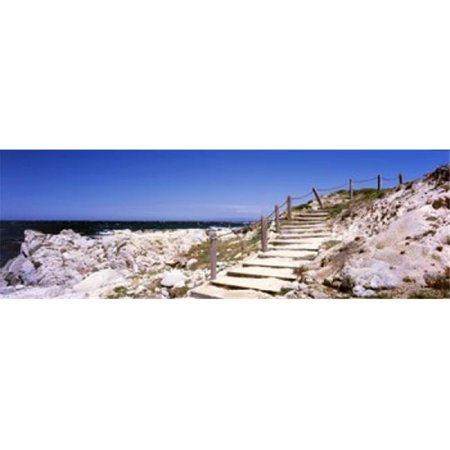 Staircase on the coast  Pacific Grove  Monterey County  California  USA Poster Print by  - 36 x 12 - image 1 de 1