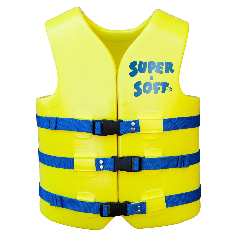 TRC Recreation Adult Super Soft USCG Vest XS - Yellow