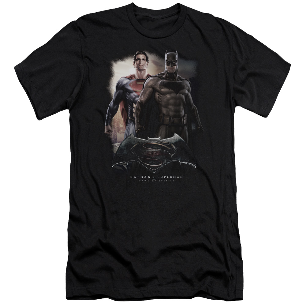 Batman v Superman Dawn Of Justice DC Comics Dawn Movie Logo Adult Slim Fit Tee