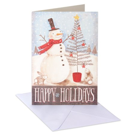 American Greetings Snowman Christmas Boxed Cards and Envelopes, 14ct - Tinkerbell Christmas Cards
