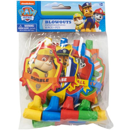 PAW Patrol Party Blowers, 8 Count, Party Supplies