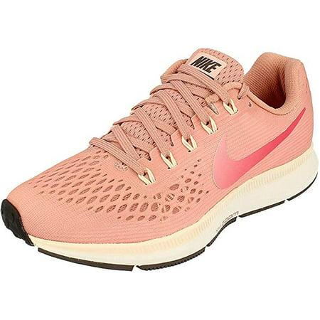 Nike Air Zoom Pegasus 34 (W) Womens Wide Running Shoe 880561-606 (6 Wide), Rust Pink Tropical Pink