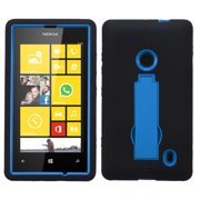 Hard Case +Rugged Silicone Case Cover w/Stand for NOKIA 520 Lumia 520