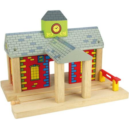 Bigjigs Toys Railway Station (Railway Station Carry Set)