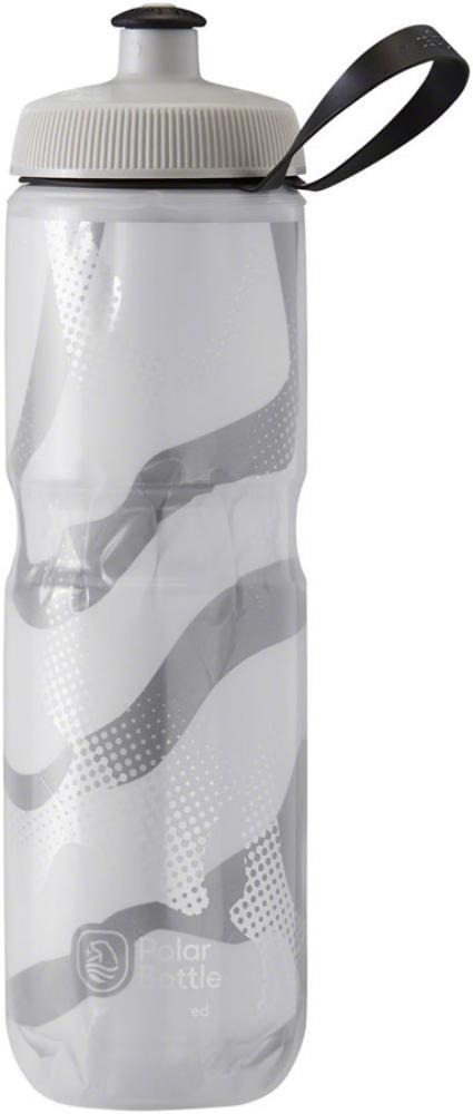24oz White//Silver Polar Bottles Sport Contender Insulated Water Bottle
