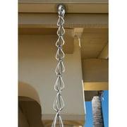 Monarch Aluminum Hammered Teardrop Rain Chain, 8-1/2 Feet Length