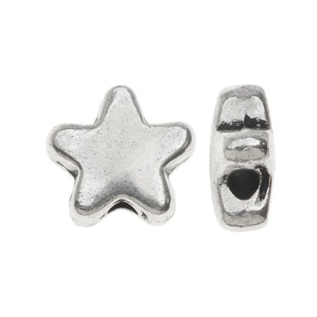 Lead-Free Pewter, Puff Star Beads 7mm, 10 Pieces, Antiqued Silver](Star Beads)