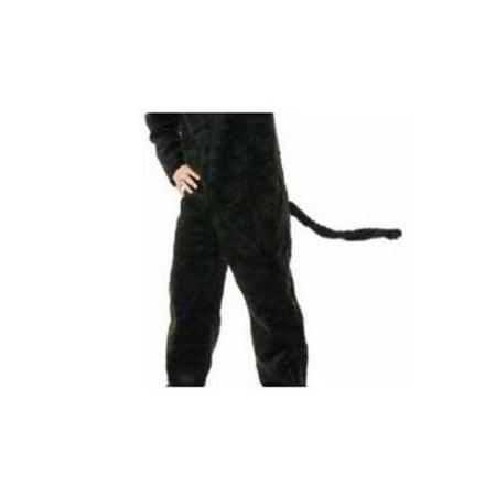 33 in. Cat Tail - Black Plush - Black Cat Cutout
