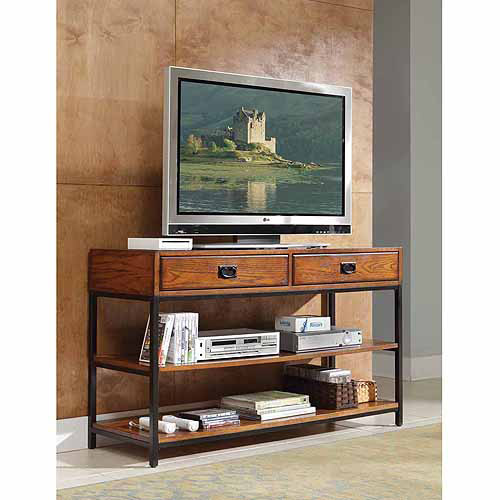 Home Styles Modern Craftsman Distressed Oak TV Stand