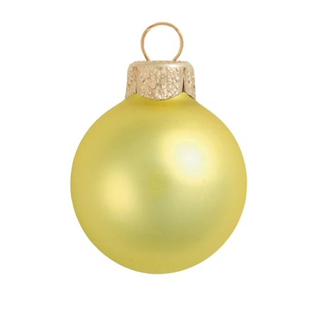 Northlight 12ct Matte Glass Ball Christmas Ornament Set 2.75